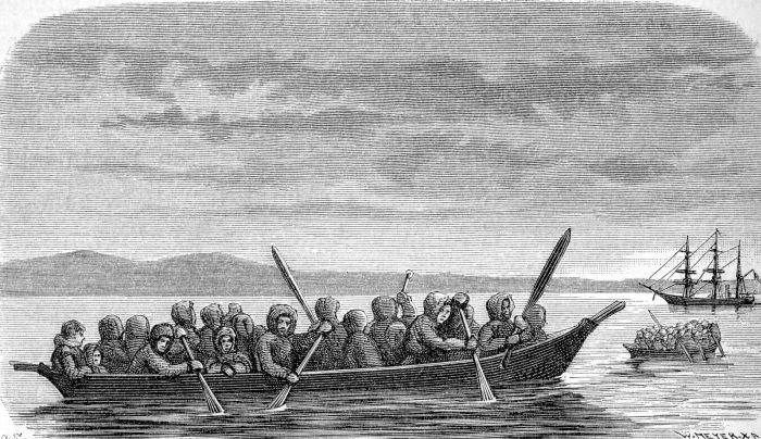 лодка эскимосов называется